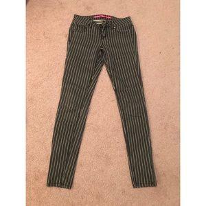 Pinstripe skinny jeans- size 0